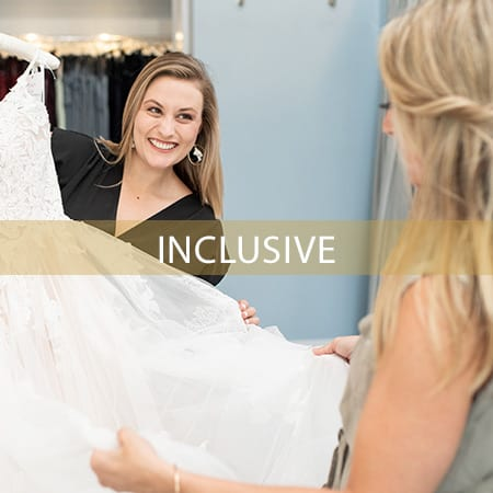 Image of Bride choosing Wedding Dress