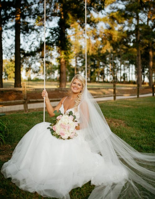 Real Bride in Essense of Australia Wedding Dress from Gown Boutique of Charleston