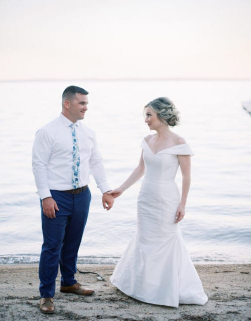 Real Bride in Jennifer Black Wedding Dress from Gown Boutique of Charleston