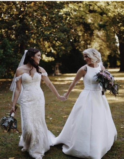 Real GBC Bride in Stella York wedding dress
