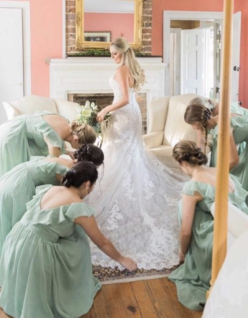 Real Bridesmaids at Gown Boutique