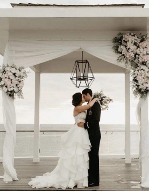 Real Bride in Beach Wedding Dress from Gown Boutique of Charleston