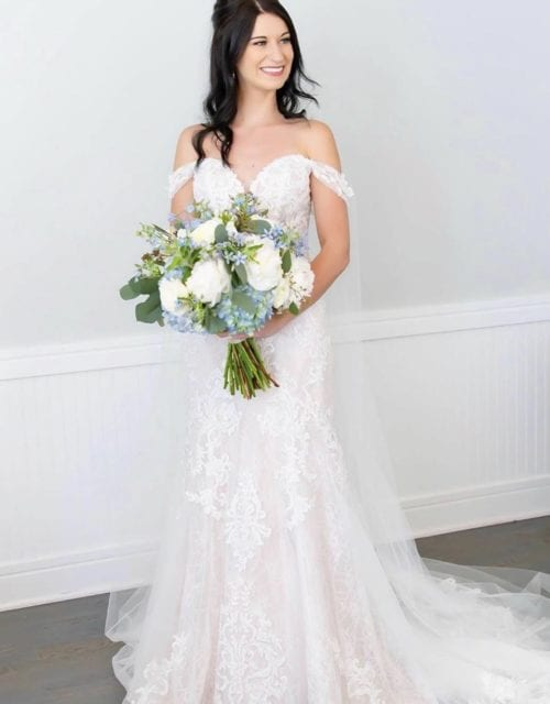 Real Bride in Mermaid Wedding Dress from Gown Boutique of Charleston